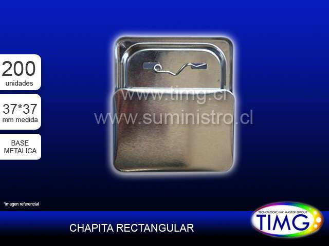 Chapita CUADRADA 37*37MM SPBM Base Metalica 100