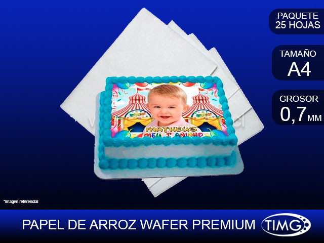 Papel de Arroz Premium Wafer paper A4 25u 0,7mm