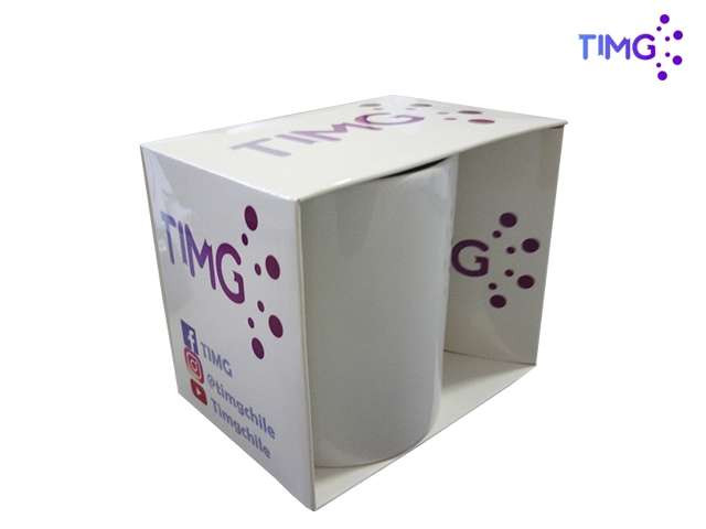 Caja de carton sublimable modelo 2 corte ovalado 11oz