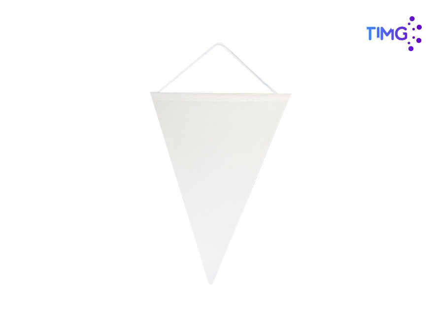 Bandera triangular sublimable blanca 14x24cm