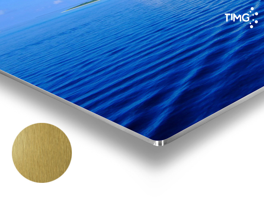 Poster de Aluminio sublimable - 610x305mm color oro cepillado