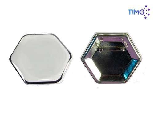 Chapitan Pin Hexagonal 65*58 mm - 100 unid