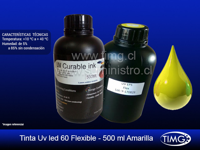 Tinta Uv led 60 flexible - 500 ml Yellow