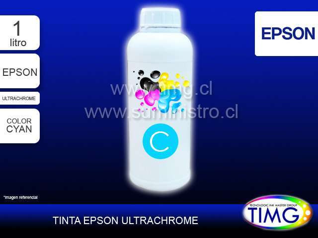 Tinta tipo Ultrachrome 1 Litro CYAN