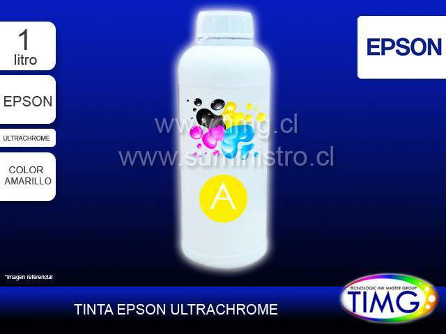 Tinta tipo Ultrachrome 1 Litro AMARILLO
