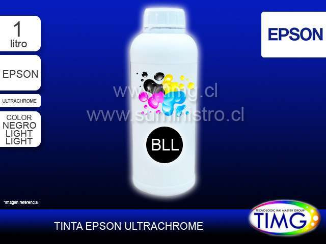 Tinta tipo Ultrachrome 1 Litro LIGHT LIGHT BLACK