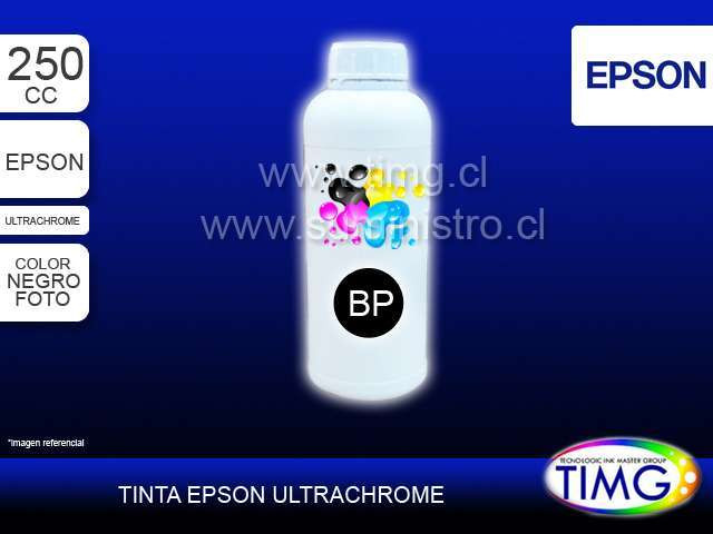 Tinta tipo Ultrachrome 250cc PHOTO BLACK