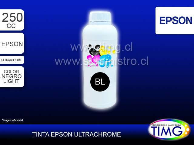 Tinta tipo Ultrachrome 250cc LIGHT BLACK