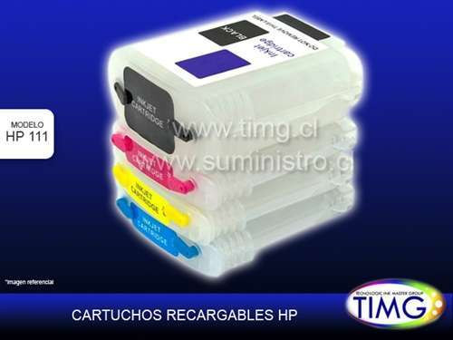 Set de cartuchos recargables 130ml hp111