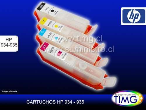 Set Cartuchos Recargables hp 934 935
