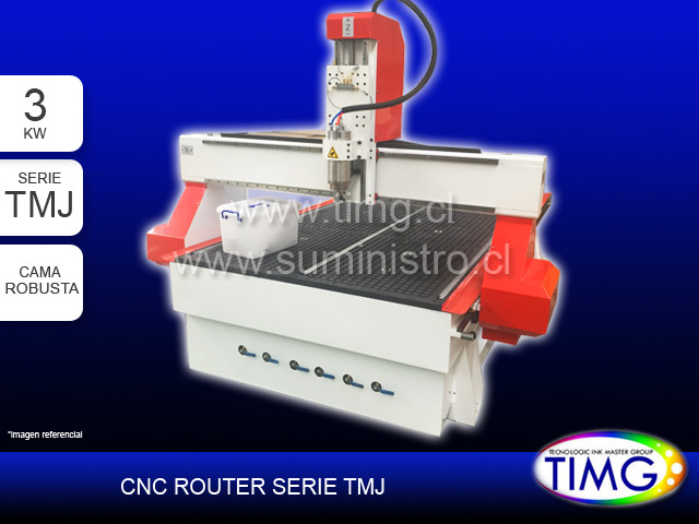 CNC Router - cama robusta - 3 KW - serie TMJ - modelo 1325CH