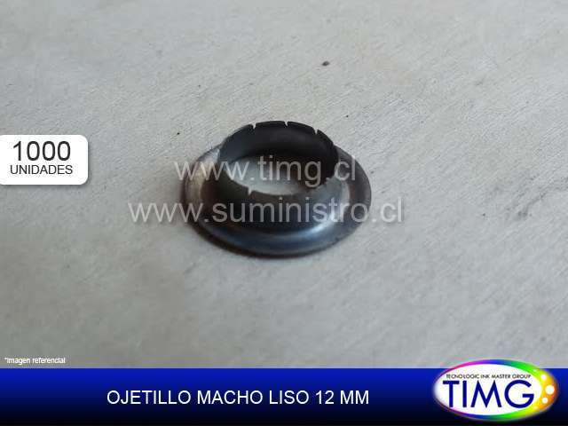Ojetillo Macho liso 12mm 1000u