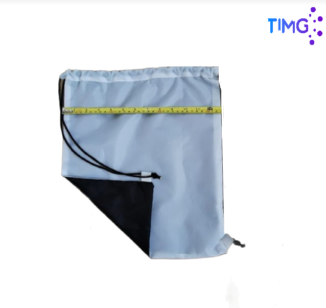Morral Sublimable Blanco - Negro 43x33.
